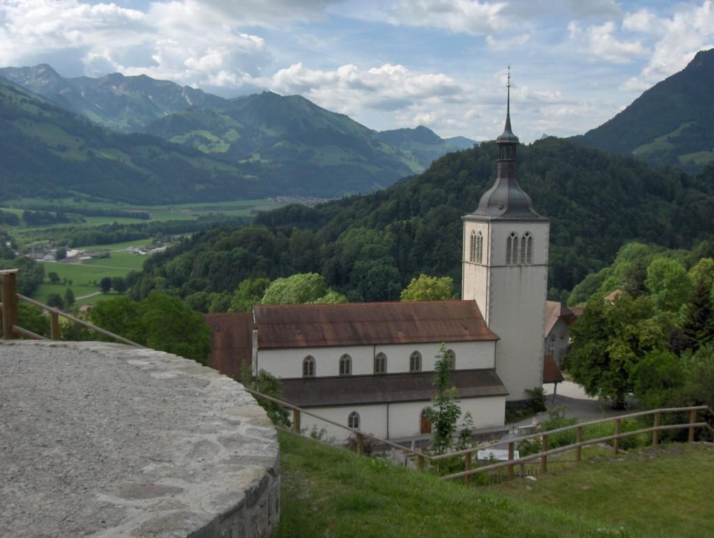 Gruyères church