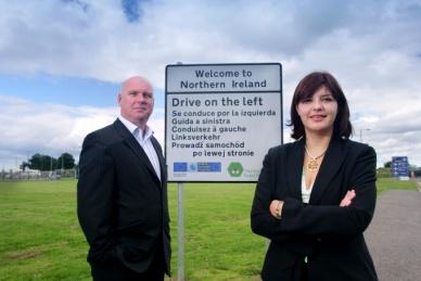 Northern Ireland road sign