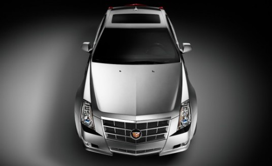 2011 Cadillac CTS Coupe overhead front