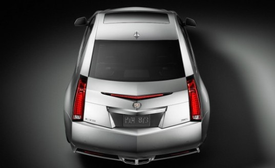 2011 Cadillac CTS Coupe overhead rear