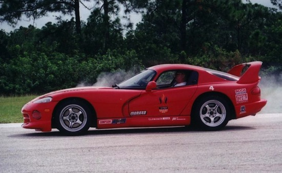 Dmitri_Nabokov_in_a_Dodge_Viper_GTSR_at_the_Justin_Bell_driving_school
