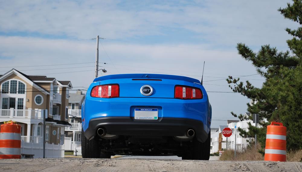 Mustang Gt Convertible Beach Rear
