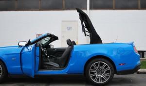 2010 Mustang GT Convertible Side Top Open