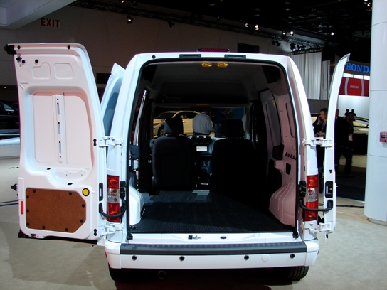 The new Transit Connect features massive cargo space in compact dimensions.