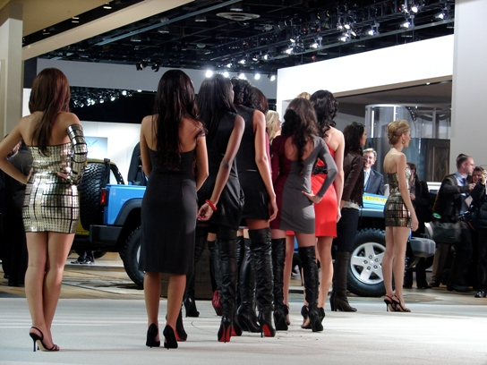 Models waiting in line