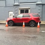 2013 Ford Explorer Sport in red