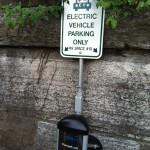 EV parking only