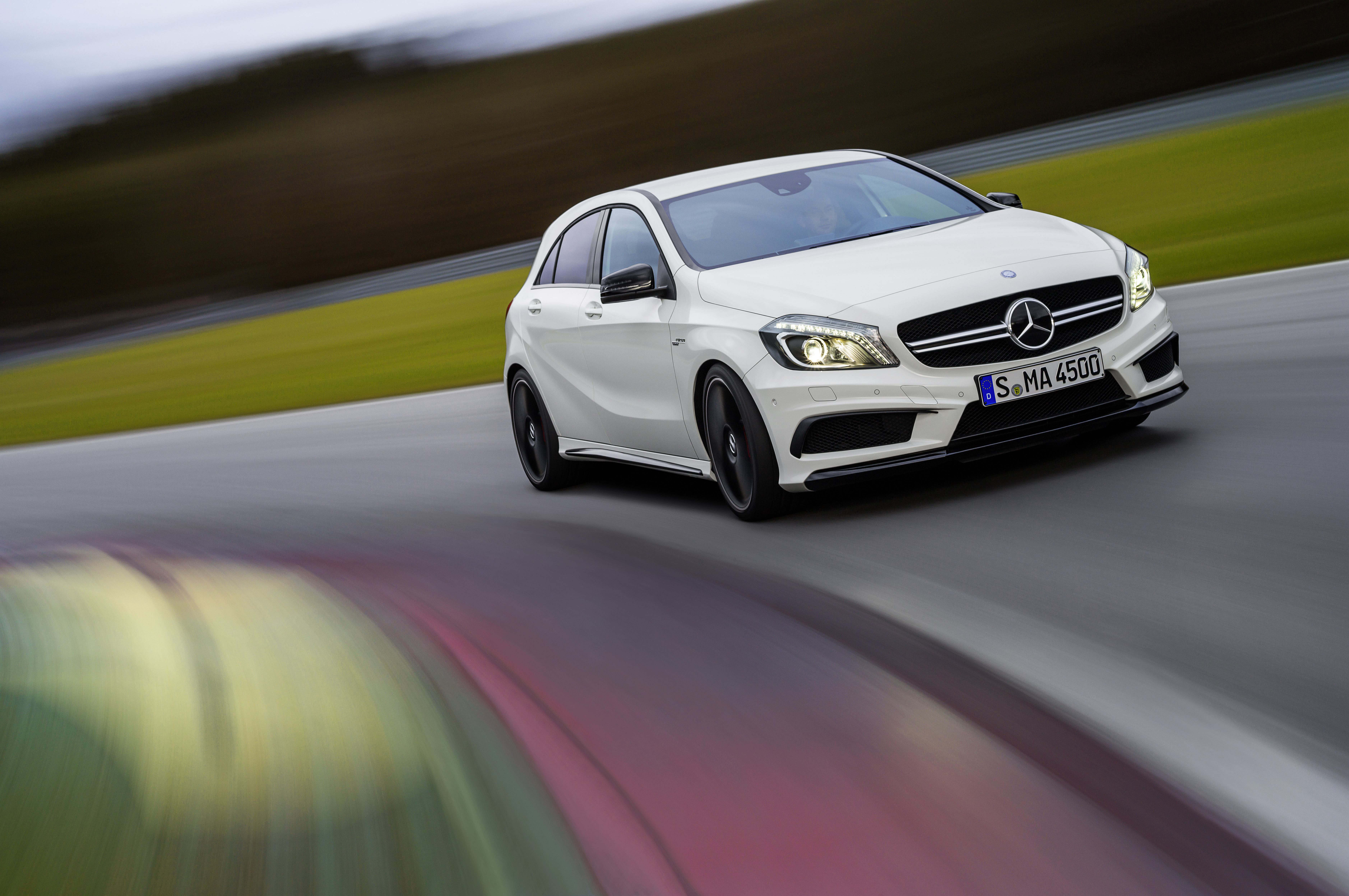 2014 mercedes benz a45 amg unveiled ahead of geneva motor show